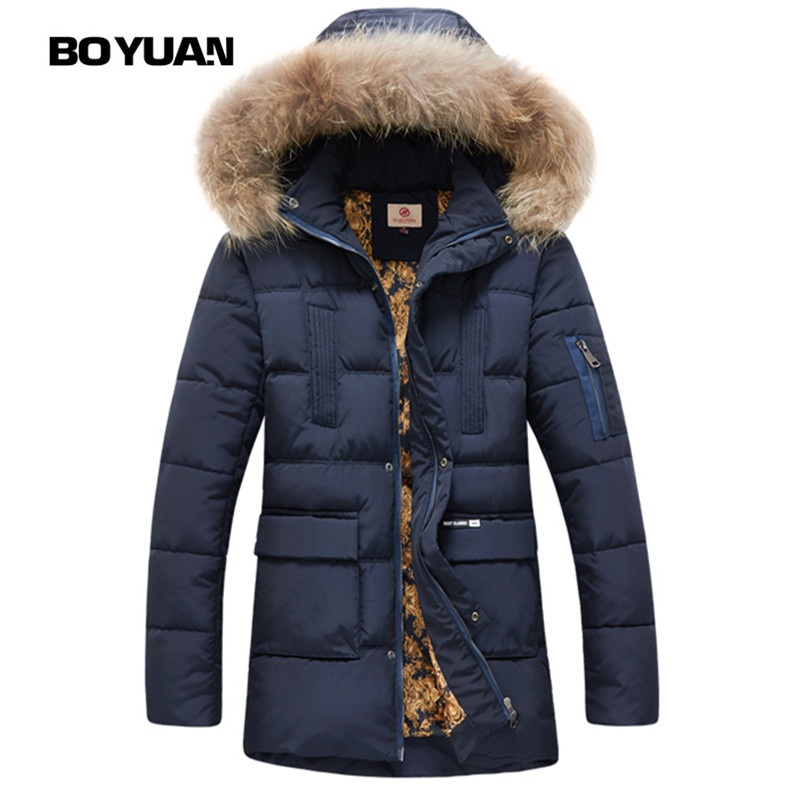 Boyuan Man Jacket Winter Jacket Men Jackets Winters Chaqueta Hombre Invierno Hooded Fur Parka Men's Coat Kurtka Zimowa Y1618
