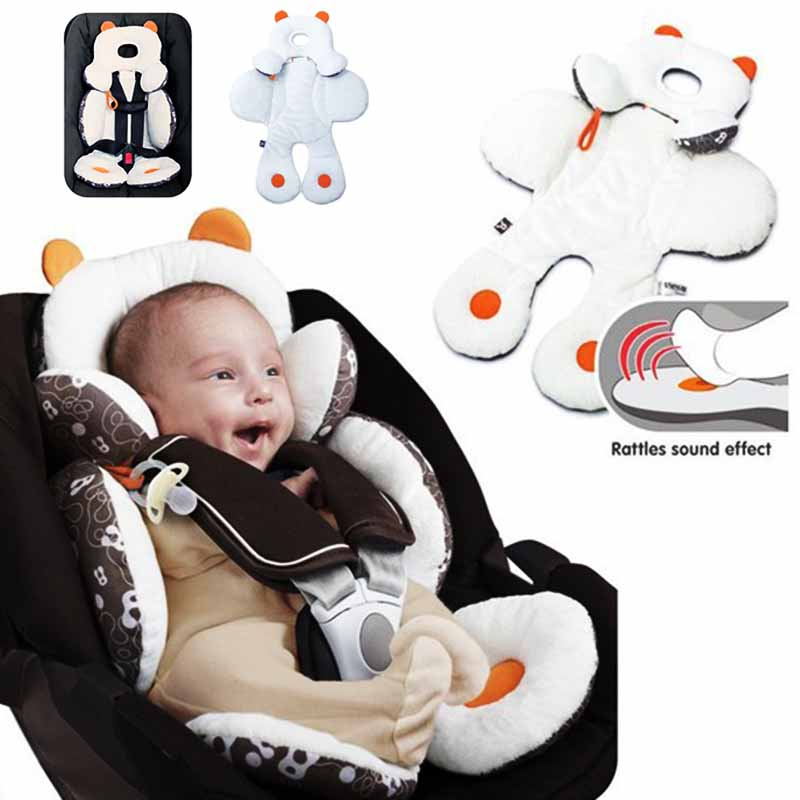 Baby Car Seat Pram Pushchair Soft Comfortable Safety 55*50cm Baby Infant Car Seat Stroller Dual-used Baby Car Pillow Cushion Pad