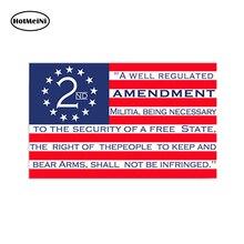 HotMeiNi Car Styling Car Sticker USA American Amendment Sticker Decal Car Truck Cup Window Bumper Cooler Gun 13x9 cm цена и фото