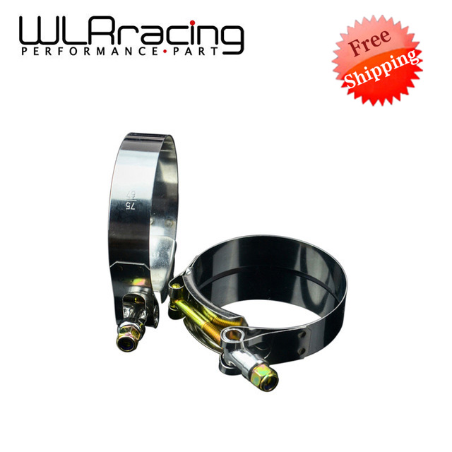 WLR Fr shipping- (2PCS/LOT)CLAMPS 2.5 (67-75)STAINLESS SILICONE TURBO HOSE COUPLER T BOLT CLAMP KIT HIGH QUALITY SS304 WLR5252