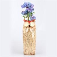 1pcs Owl Shape Long Ceramic Flower Pots Balcony Succulent Plant Planter Ornamental Flowerpot Retro Garden Pots Ceramic Plant Pot
