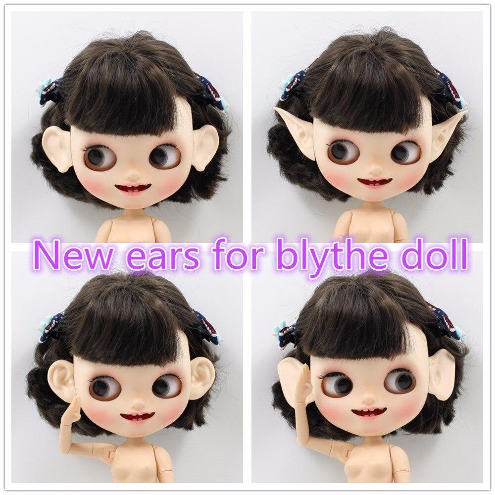 Trasporto libero forturn giorni per blyth bambola icy resina orecchie decorare su ordinazione non c' è bisogno di taglio originale orecchie ma più grande dimensioni con argilla