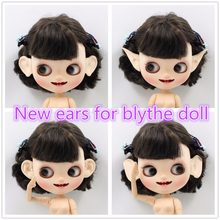 for blyth doll icy resin ears decorate custom no need to cut original ears but bigger size with clay, only white skin(China)