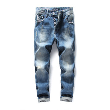 2017 Famous Original Dsel Brand Men Jeans,Blue Straight Denim Button Fly Jeans Men,High Quality Men Pants Plus Size 29-40!982-3