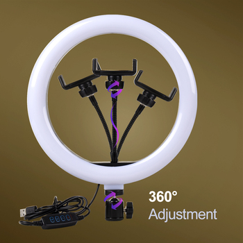 Dimmable LED Selfie Ring Light with Tripod