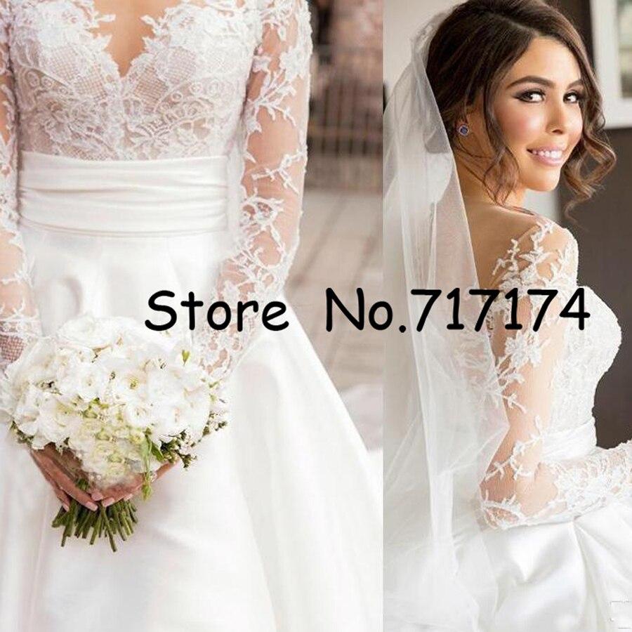 Super Promo Gorgeous A Line Wedding Dresses Split Lace With