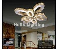 Бесплатная доставка современный светодиодный потолочный светильник из нержавеющей стали кристалл лампы для жизни Спальня светодиодные лю