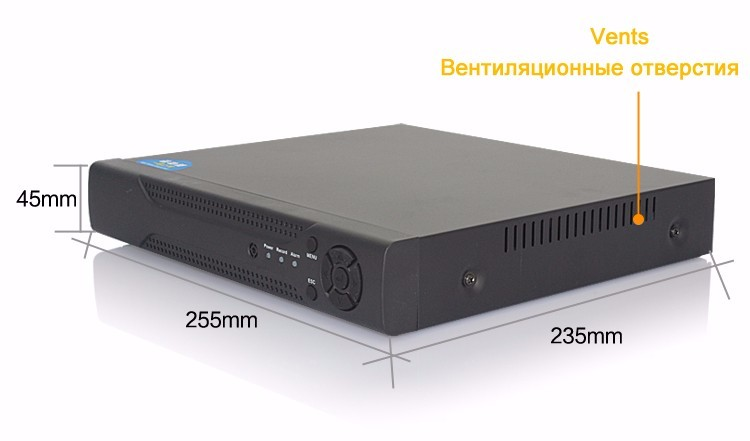 Hisiclion Chip Dahua Exterior Metal Case 16 Channel 1080P,1080N,960P,720P,960H Four in One TVi NVR AHD DVR picture 08