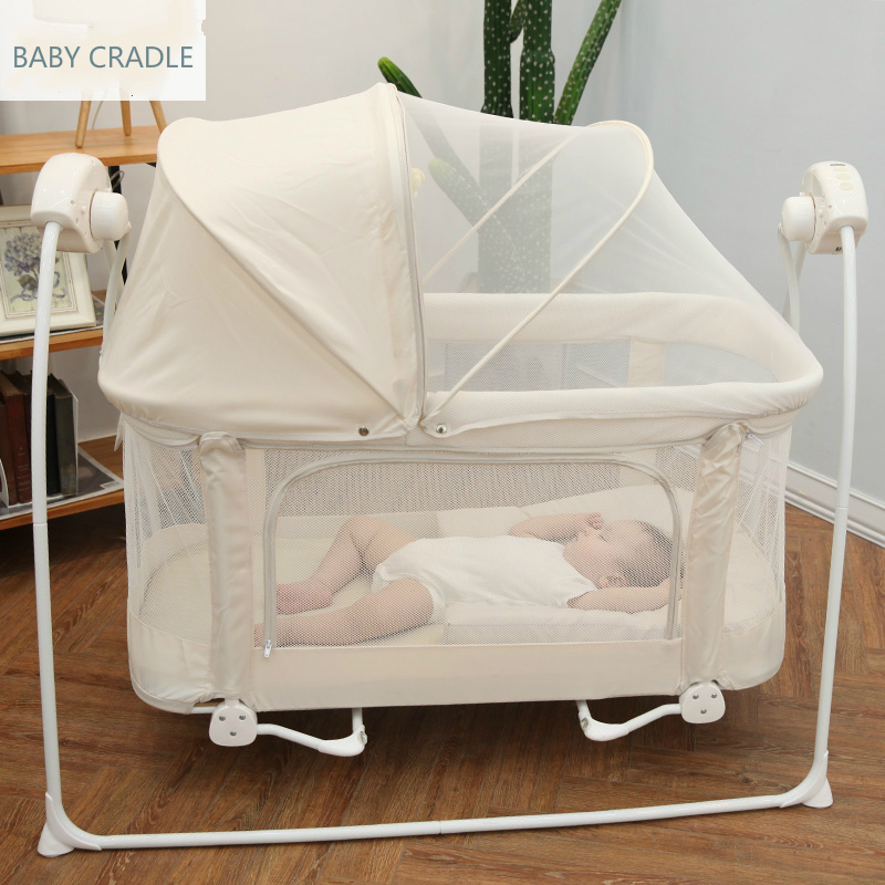 Newborn Sleeping Bed Babyqiner Electric Cradle Baby Shaker Rocking