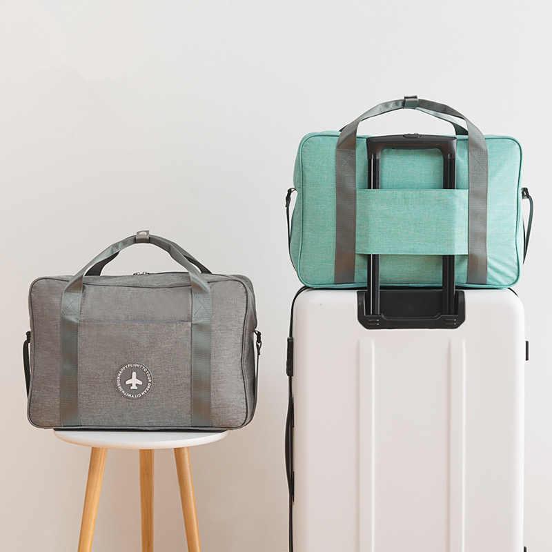 Wodoodporna torba podróżna składana torebka do przechowywania damskie sportowe na świeżym powietrzu piesze wycieczki joga Fitness Jogging przenośny wózek torby do pływania