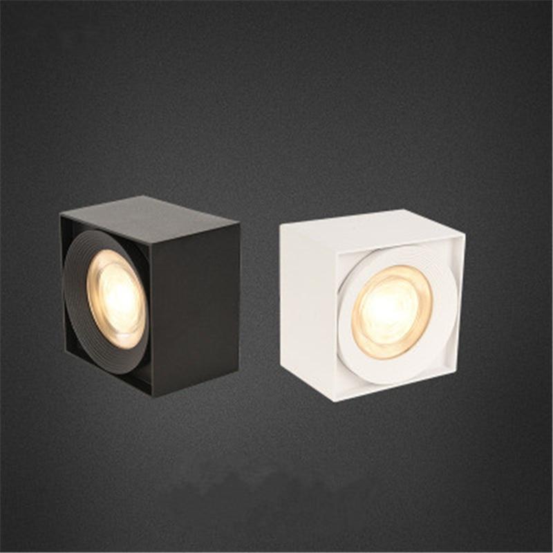 Surface Mount COB Square Downlight 7W/12W/15W AC85-265V LED Ceiling Bulbs Lamp Spot Light LED Downlight Indoor lighting