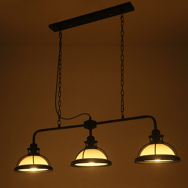 nordic loft glass lampshade three head pendant light for living room bar restaurant bedroom lighting