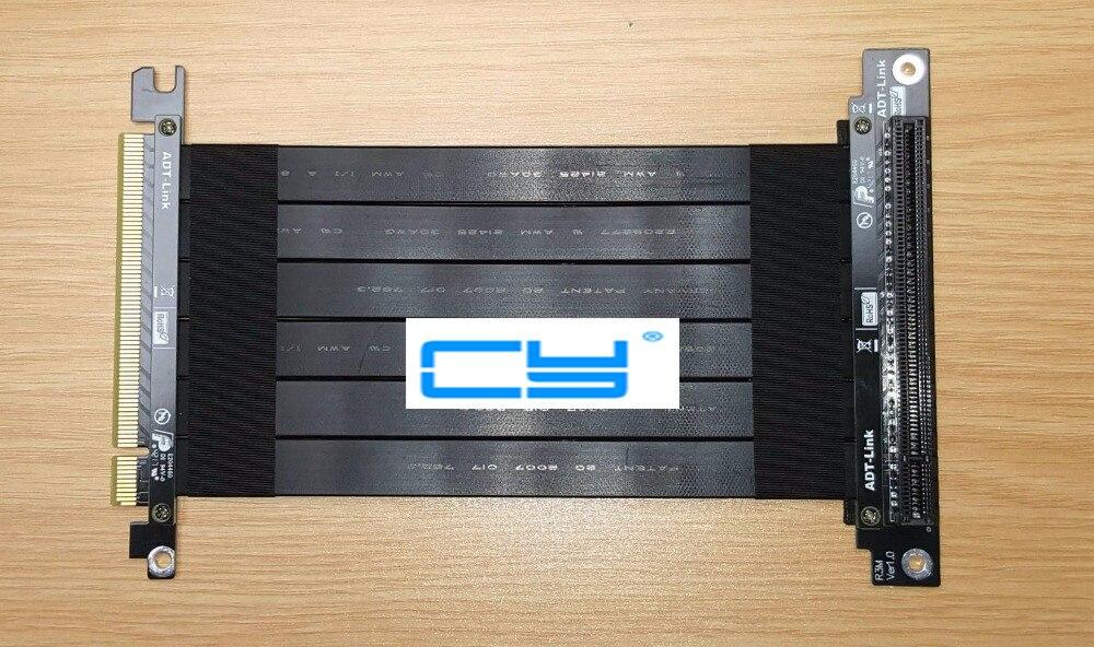 10 pièces/16 PCI-E 3.0x16 câble plat flexible ForCM VGA Cooler Master vertical graphique porte-carte kit 128 Gbps Gen3 Riser PCIe 16x