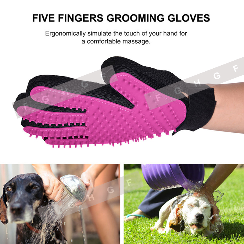 Silicone Cat Gloves Hair Comb Pet Bath Brush Gentle Efficient Massage Grooming And For Pet Washing Gloves Goods Hair Pet Finger #2
