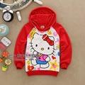 2017 New Children T Shirt Kids Cartoon T Shirt Baby Girls Hello Cat T Shirt Kids long Sleeve Casual Hoodies free shipping