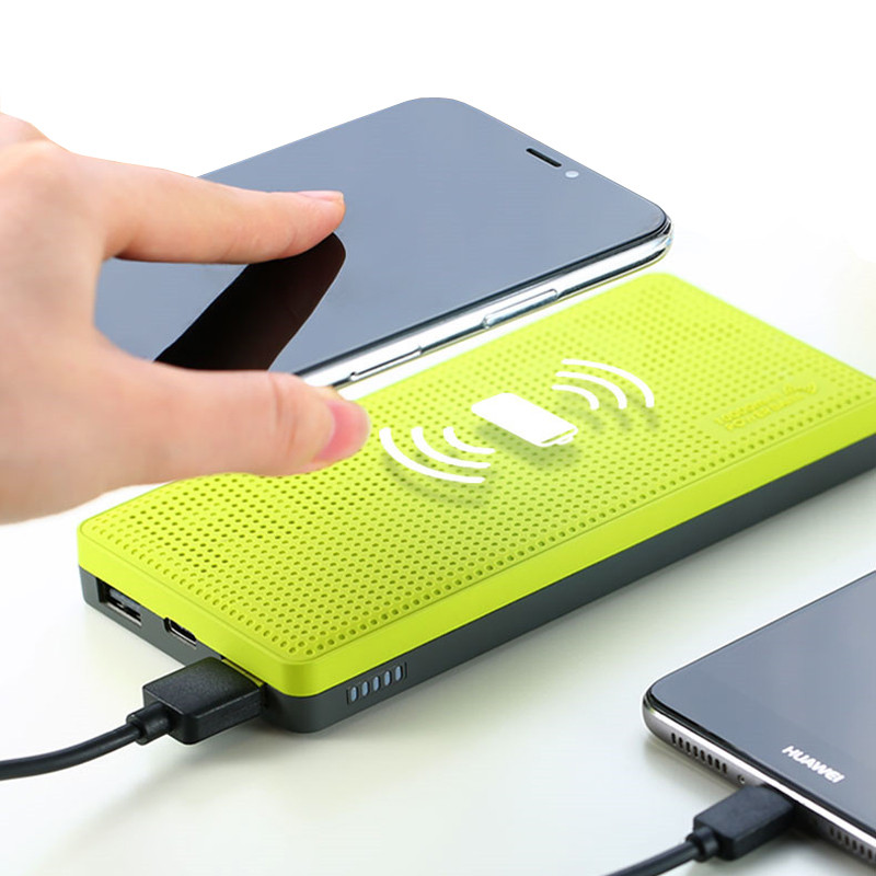 QI 10000mah wireless charger power bank with Indicator light Dual USB External Battery Powerbank for iphone X 8 plus samsung S7