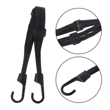 60cm Motorcycle Accessories Seat Belt Strength Retractable Helmet Luggage Elastic Rope Strap With 2 Hooks New