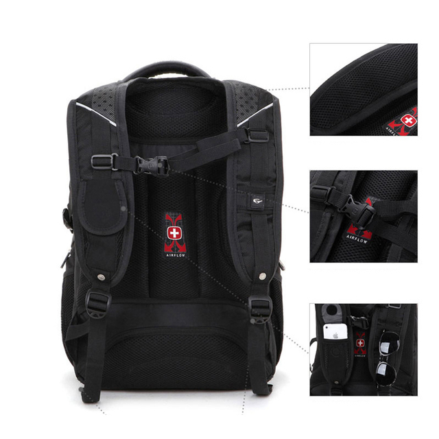 Brand New Multifunctional Backpack High volume 5 Layer Travel bag Schoolbag Backpack for laptop 12 3