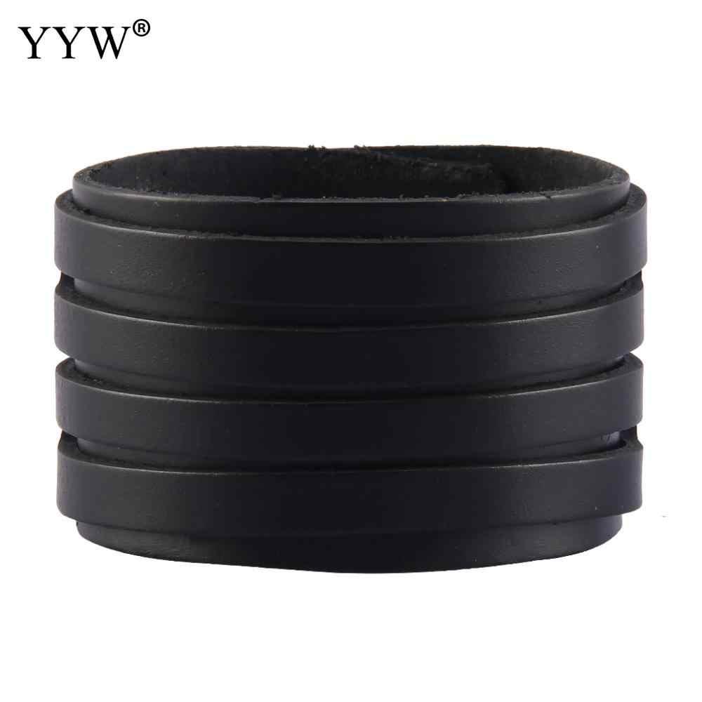 YYW 2018 новые модные повседневные мужские и женские браслет на запястье браслеты из яловой кожи повязка на руку застежка Ювелирная подарки