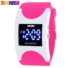 Дети часы Симпатичные Детские часы Спорт Мультфильм часы для девочек и мальчиков резиновая детский цифровой светодиодный Наручные часы Relojes SKMEI