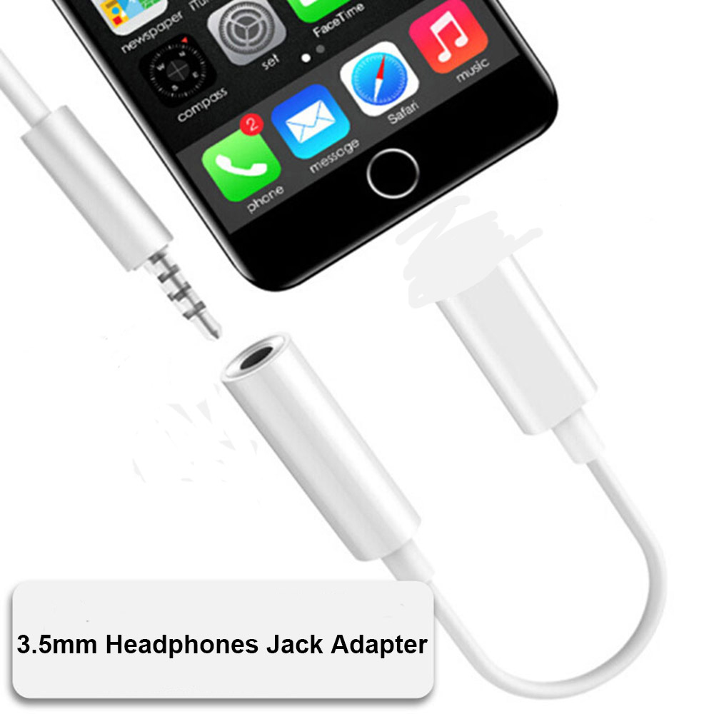 For Iphone 7 8 Plus 3.5mm Headphones Jack Audio Adapter Listen To Music Earphones Splitter For Iphone X Xs Xr Xs Max IOS 12