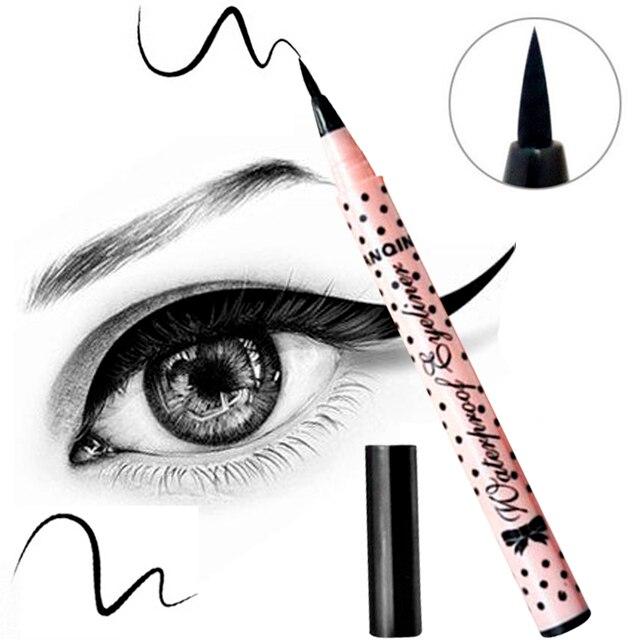 1 PCS CHAUDE Femmes Lady Beauté Maquillage Eyeliner Noir Imperméable À L'eau Long-durable Liquide Eye-Liner Crayon Pen Make Up Cosmétique Mignon outil