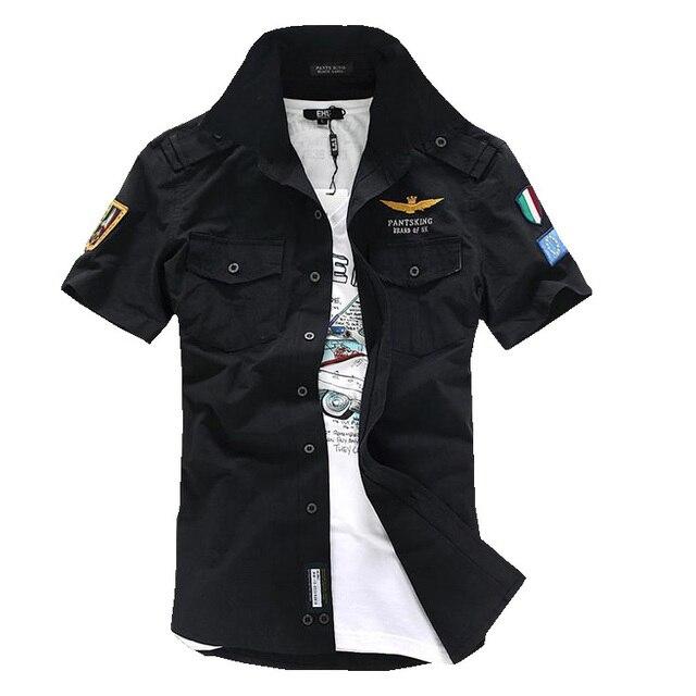 Fashion Military Uniform Camouflage Short Sleeve Shirt Man
