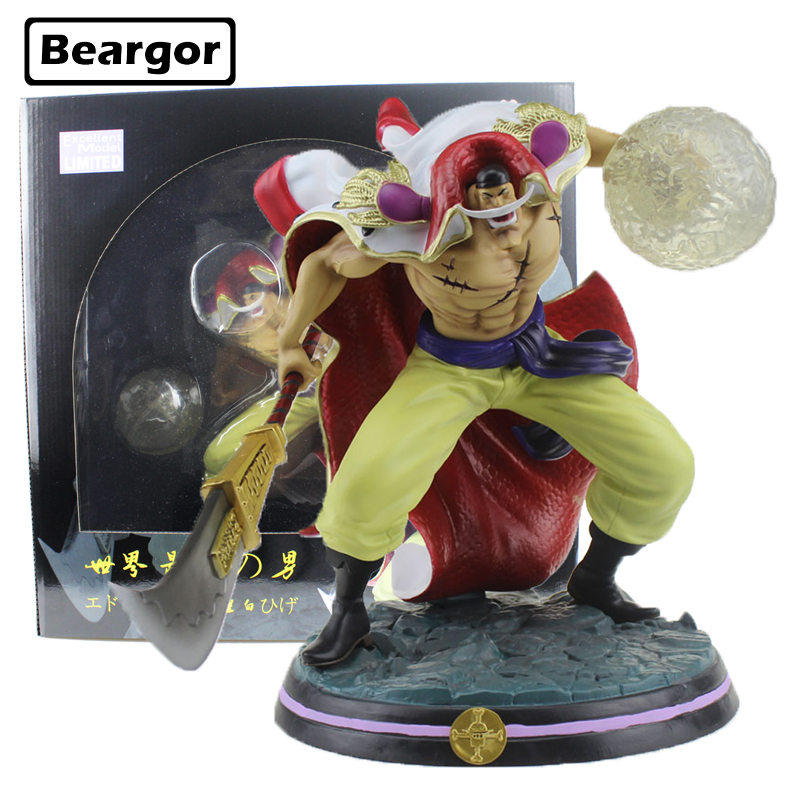 13 inch One Piece Super Big Whitebeard Edward Newgate GK Ver. Boxed 32cm PVC Anime Action Figure Collection Model Doll Toys Gift new anime one piece kaido four emperors edward newgate white beard big mom 24cm pvc action figure model doll toys in boxed