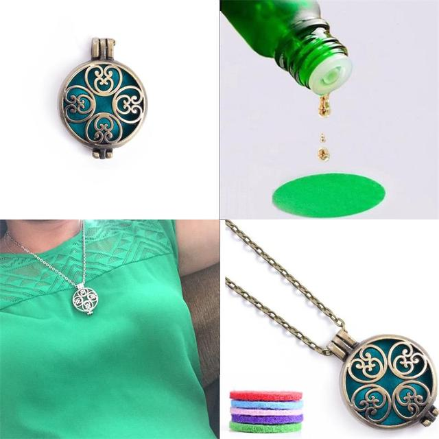 Essential Oil Aroma Diffuser Necklace