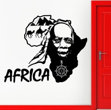 Wand Aufkleber Vinyl Applique Afrika Afrika Land Reise Karte Art Deco Aufkleber Wohnzimmer Schlafzimmer Wohnkultur 2DT9