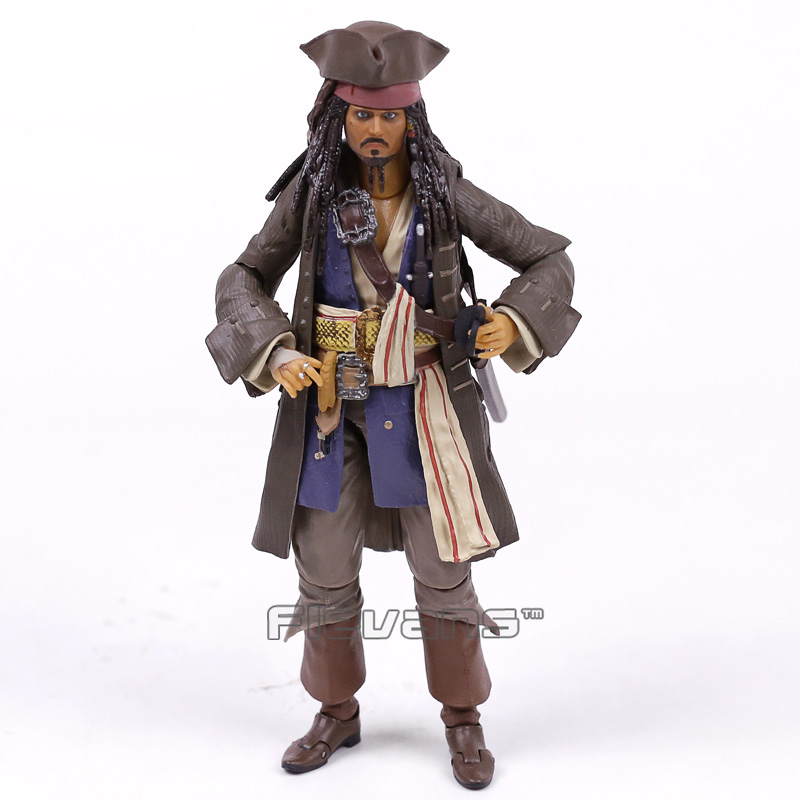 SHFiguarts Pirates of the Caribbean Captain Jack Sparrow PVC Action Figure Collectible Model Toy 15cm cornelio planeta de los simios