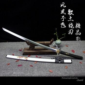 Phoenix Arcilla Templada Espada Samurai Katana Hecho A Mano de Acero de Alto Carbono Enterizos Vaina De Madera Nitidez Nueva Oferta