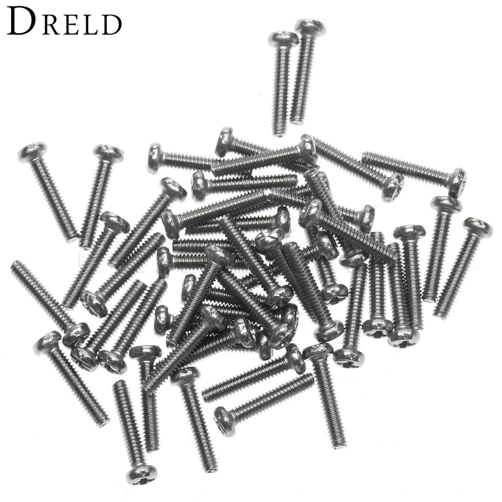 50Pcs Phillip Plain Furniture Screw M2 x10mm Steel Bolt Fastener Pan Head Socket Screws and Bolts Computer Case Screws for Wood 50pcs lots carbon steel screws black m2 bolts hex socket pan head cap machine screws wood box screws allen bolts m2x8mm