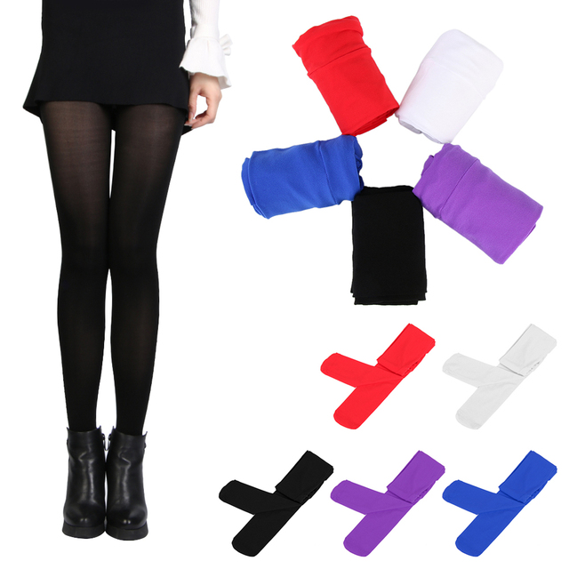 b77a28cd3 Hot Sell 120 D Autumn Winter Tights Women s Sexy Footed Thick Opaque  Stockings Pantyhose Fashion Lady