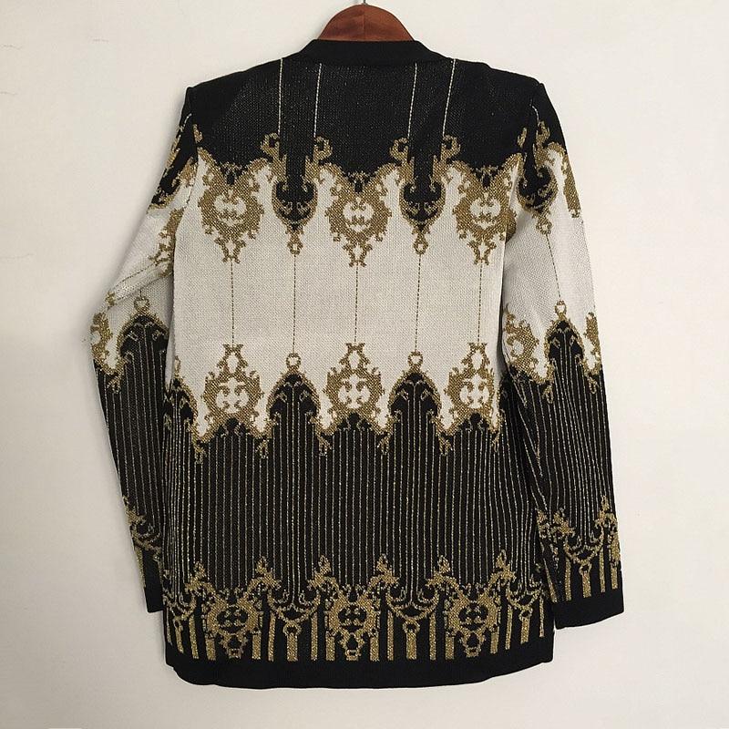 Chandail Cardigan Veste Hiver Vêtements 2018 Mode D'or Tricoter Femmes Manteau Fil Cravate Automne Designer À Ceinture Piste Dames Paris a4Y4xZ
