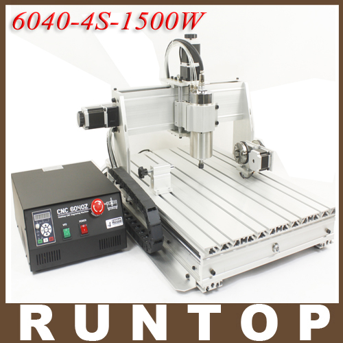 1.5KW 1500W Four-axis CNC Router Engraver Engraving Milling Drilling Cutting Machine CNC 6040 Z-4S cnc 5axis a aixs rotary axis t chuck type for cnc router cnc milling machine best quality