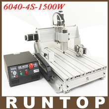 1 5KW 1500W Four axis CNC Router Engraver Engraving Milling Drilling Cutting Machine CNC 6040 Z