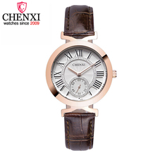 CHENXI Lady Fashion Rose Gold Wrist Watch Women Famous Brand Golden Quartz Female students Watches Relogio Feminino Montre Femme