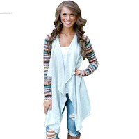 Women Cardigan Casual Knitted Kimono Cardigan Long Sleeve Patchwork Air Conditioning Outwear Tops Women Sweaters Wholesale