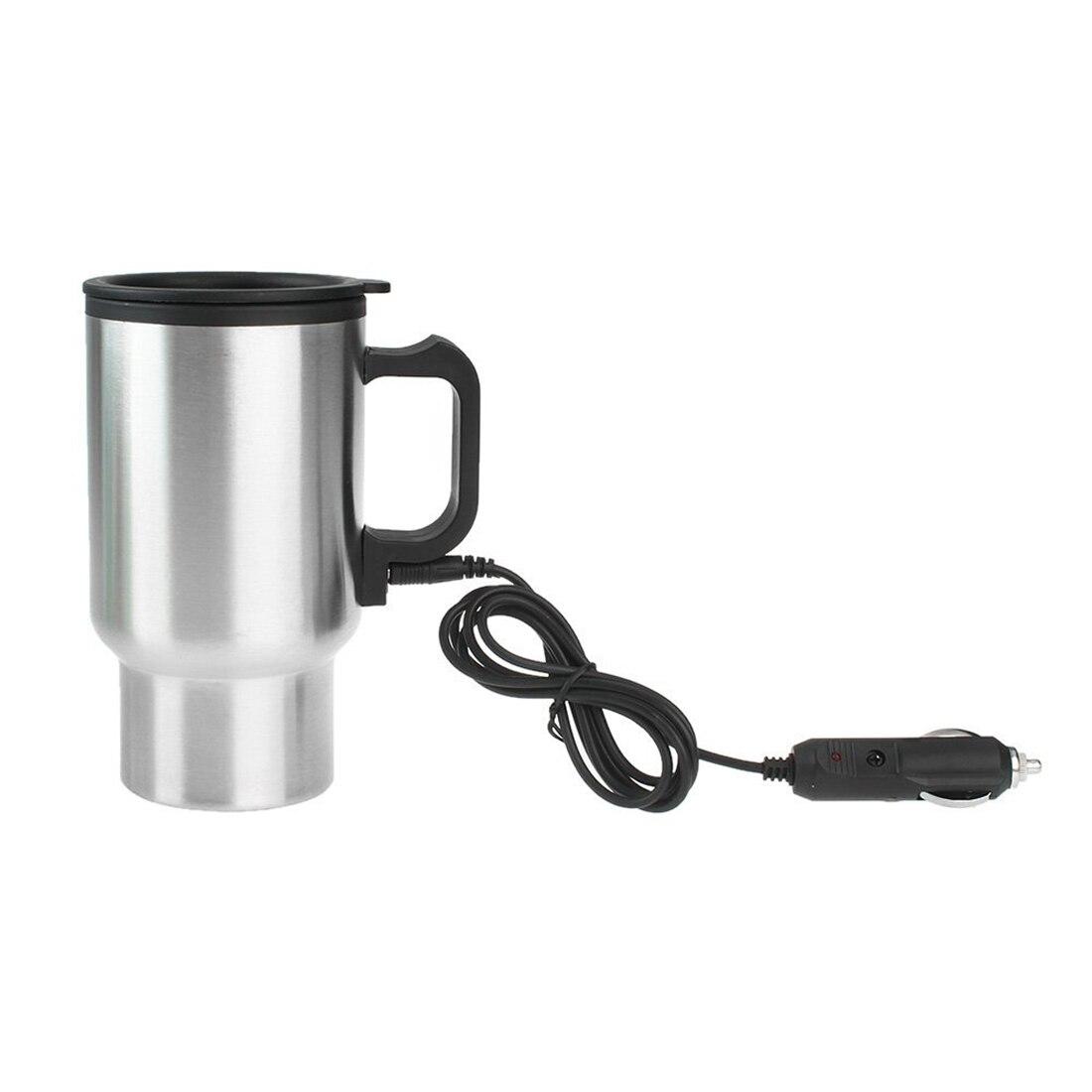 Dewtreetali Practical car styling DC 12V Car 450ml Drink Coffee Water Milk Stainless Steel Bottle Warmer