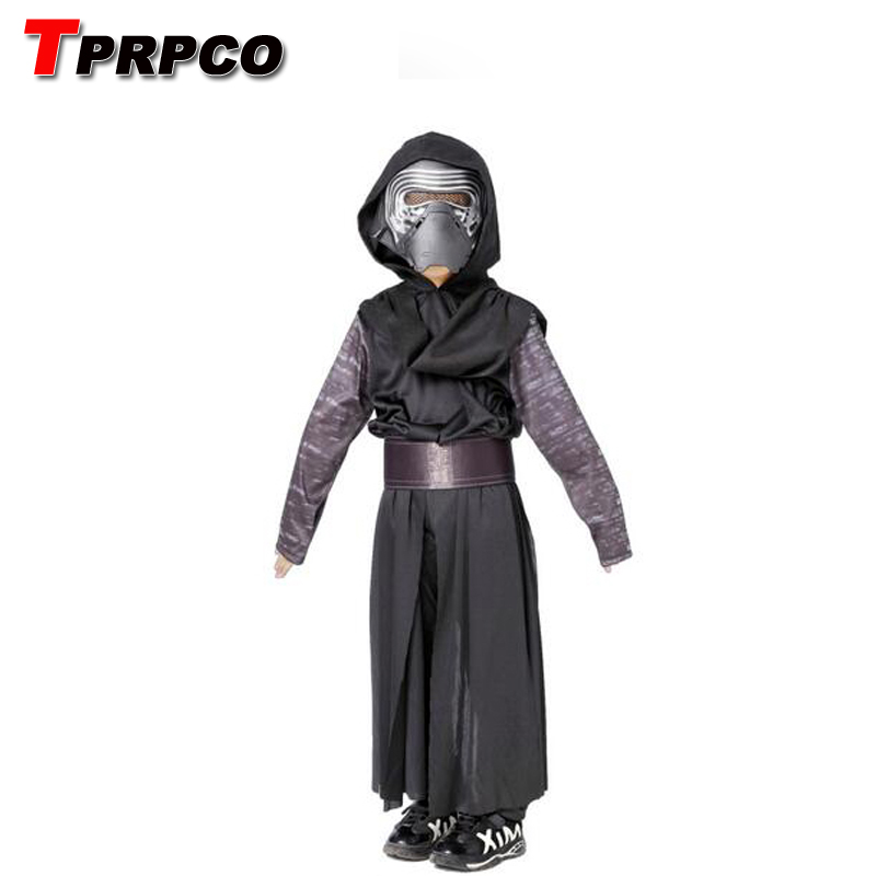 TPRPCO Boys Deluxe Star Wars The Force Awakens Kylo Ren Classic Cosplay Clothing Kids Halloween Movie Costume NL151