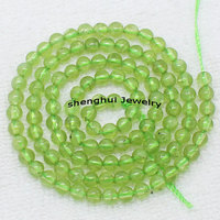 Wholesale 4mm Natural Peridot Round Beads 15 38cm 100 Natural Stone Guarantee Beads For DIY Jewelry