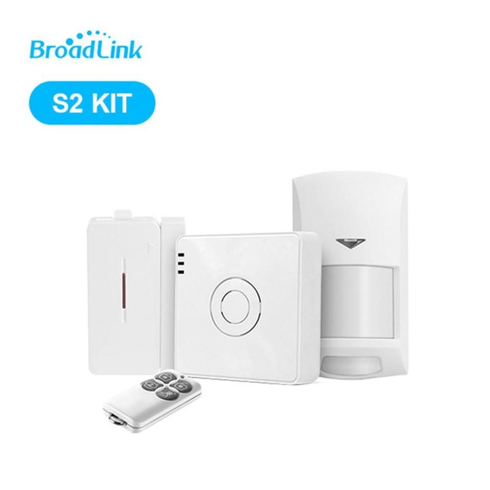 2018 оригинальные Broadlink S2 концентратора безопасности костюм, wi-Fi удаленный сигнал тревоги и безопасность комплект умный дом автоматизации ко...