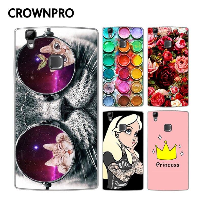 Crownpro doogee x5 max case tpu de silicona suave cubierta de pintura de colores