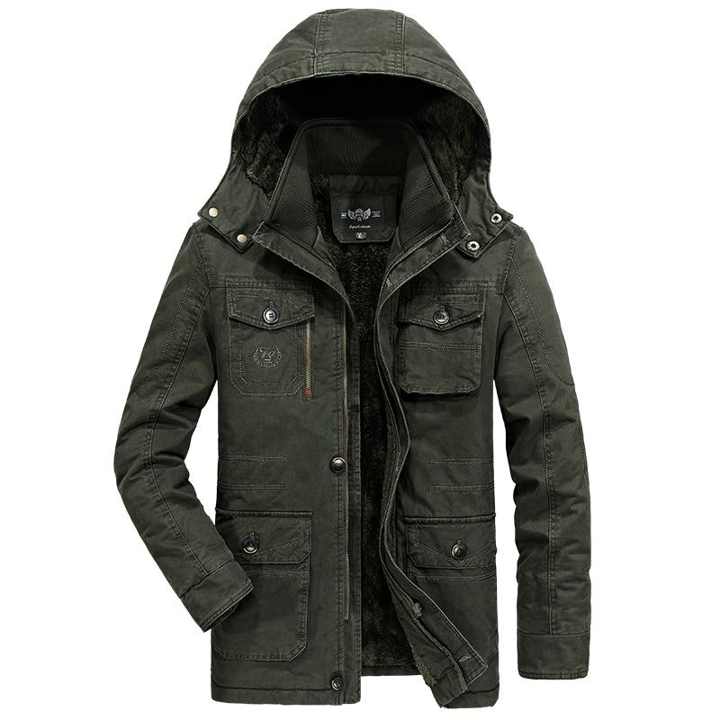 New Plus Size 8XL Big & Tall Outerwear Brand Tactical Military Men's Parka Winter Jacket Men Thermal Warm Fleece Parka Coat Men