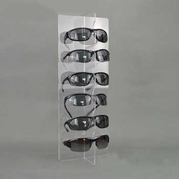 Clear Holders Acrylic Sunglasses Eyeglasses Display With Glasses Nose