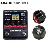 NUX AMP Force Guitar Modeling Amplifier Simulator Electric Guitar Effect Pedal 12 Models Screen Guitar Parts