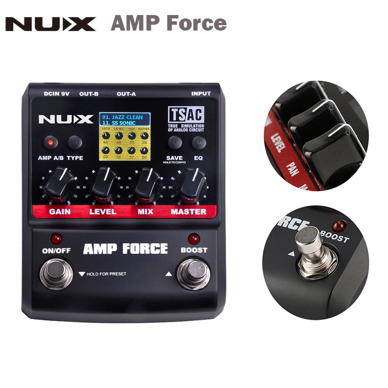 NUX AMP Force Guitar Modeling Amplifier Simulator Electric Guitar Effect Pedal 12 Models Screen Guitar parts&Accessories long term electric load demand forecasting and modeling