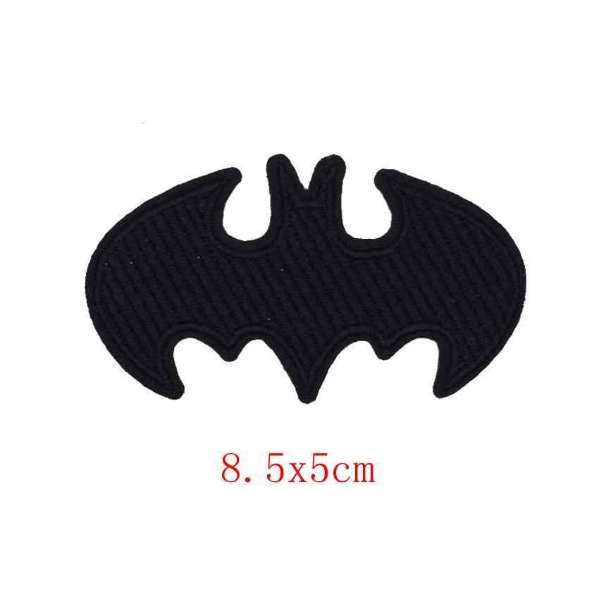 Nouveau diable corne Rock musique main squelette Batman doigt Patch arc-en-ciel coeur amour patchs pour enfants hommes femmes T-shirt décoration