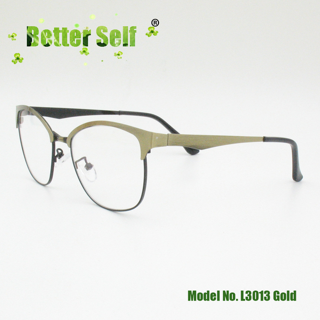 3ac155b313 Better Self L3013 South Korean Style Eyeglasses Myopia Spectacles Frame  Metal Cat Eye Men Women Optical